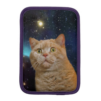 Cat staring at the universe sleeve for iPad mini