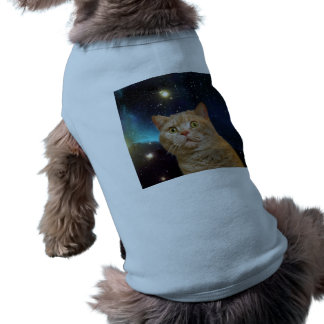 Cat staring at the universe T-Shirt