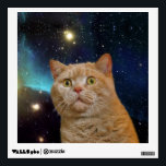 """Cat staring at the universe wall sticker<br><div class=""""desc"""">Cat staring at the universe                             &quot;Cat staring&quot;,  &quot;scared cat&quot;,  &quot;space cat&quot;,                                              &quot;orange cat&quot;,  &quot;cosmic cat&quot;,  &quot;meme cat&quot;,  cat,  meme,  galaxy,  cats,  funny,  cool,  space,  cosmos,  stars,  kittens,  cute,  eyes,  kitty,  supernova,  universe,  nebula,  kitten,  stellar,  astronaut,  &quot;green eyes&quot;,  feline,  &quot;into space&quot;,  &quot;in space&quot;,  &quot;cat galaxy&quot;,  &quot;cat with green eyes&quot;, </div>"""