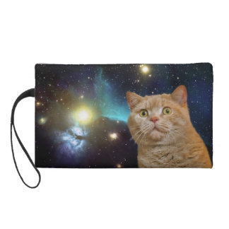 Cat staring at the universe wristlet