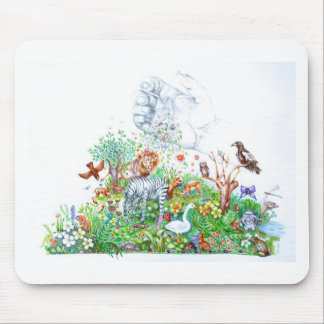 Cat staring blue eyes pencil art by south african mouse pad