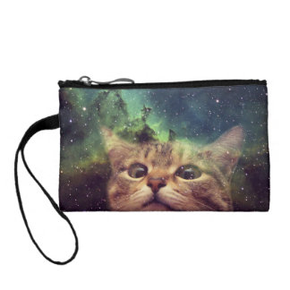 Cat Staring into Space Coin Wallet