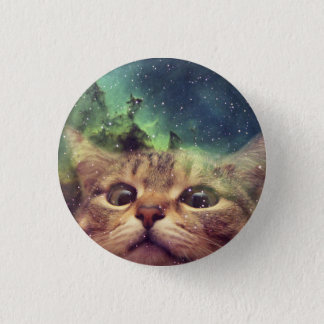 Cat Staring into Space Pinback Button