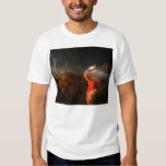 cat staring into the abyss of space shirt