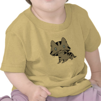 Cat staring into the distance t shirt