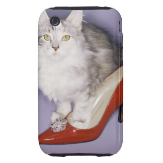 Cat stepping into high heel tough iPhone 3 covers