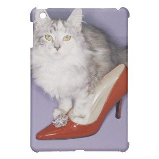 Cat stepping into high heel iPad mini covers