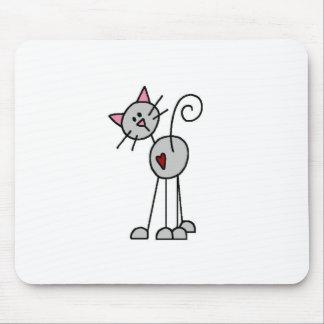 Cat Stick Figure Mousepad