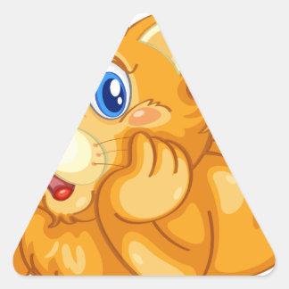 cat triangle sticker