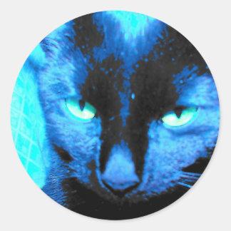 Cat Sticker: we are not amused Classic Round Sticker