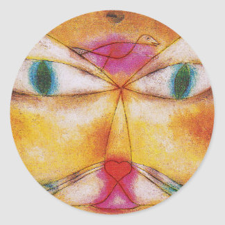 Cat Stickers Cat and Bird Abstract Art