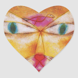 Cat Stickers Cat and Bird by Paul Klee