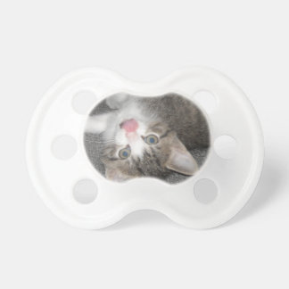 Cat Sticking Out Tongue Pacifiers