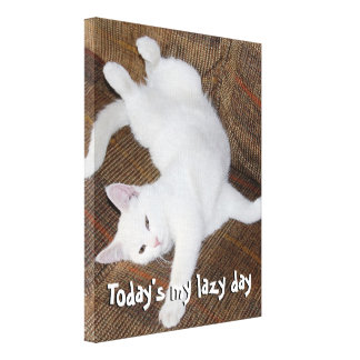 Cat Stretch - Canvas Canvas Print