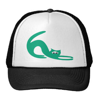 Cat Stretch Green Sad Eyes Cap
