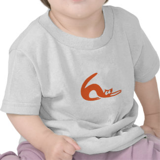 Cat Stretch Orange Look Up There Eyes Shirt
