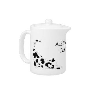 Cat Stretch Teapot - Black Leopard Print