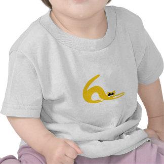 Cat Stretch Yellow Hi Eyes T-shirt
