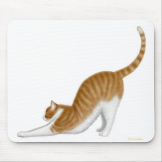 Cat Stretching Mousepad