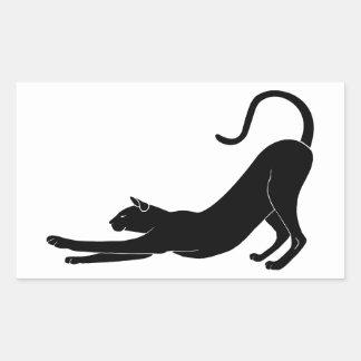 Cat Stretching Rectangular Sticker