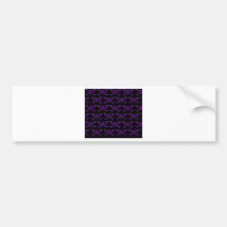Cat & Sturg Bones - Purple Bumper Sticker