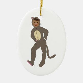 Cat Suit Ceramic Ornament