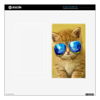 Cat sunglasses - cat love - pet - cute cats decals for kindle fire