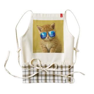 Cat sunglasses - cat love - pet - cute cats zazzle HEART apron