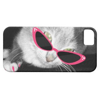 Cat Sunglasses i Phone 5 Case iPhone 5 Case