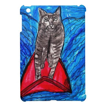 Beach Themed Cat Surfing Cover For The iPad Mini