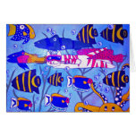 Cat Swimming with Fish Cards