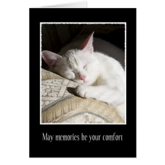 Cat Sympathy Loss of Pet Card