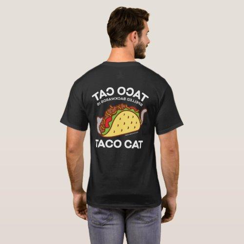 Cat T_Shirt _ TACO CAT Spelled Backwards isâ