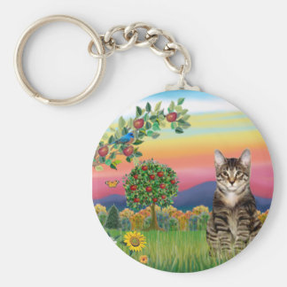 Cat (Tabby1) - Bright Country Keychain