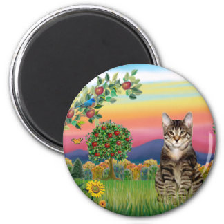 Cat (Tabby1) - Bright Country Magnet