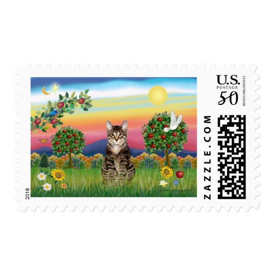 Cat (Tabby1) - Bright Country Postage