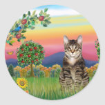 Cat (Tabby1) - Bright Country Stickers