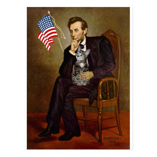 CAT (Tabby2) - Lincoln Postcard