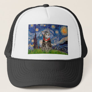 CAT (Tabby2) - Starry Night Trucker Hat