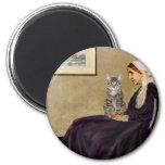 CAT (Tabby 1) - madre de las marmotas Imán Para Frigorifico