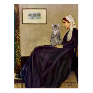 CAT (Tabby 1) - Whistlers Mother Postcard