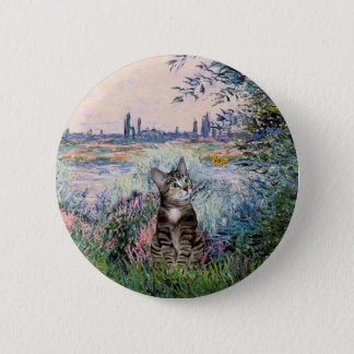 Cat (Tabby 2) - By the Seine Button