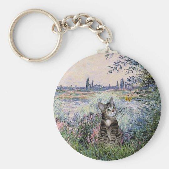 Cat (Tabby 2) - By the Seine Keychain