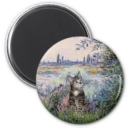 Cat (Tabby 2) - By the Seine Magnet