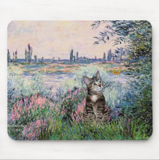 Cat (Tabby 2) - By the Seine Mouse Pad