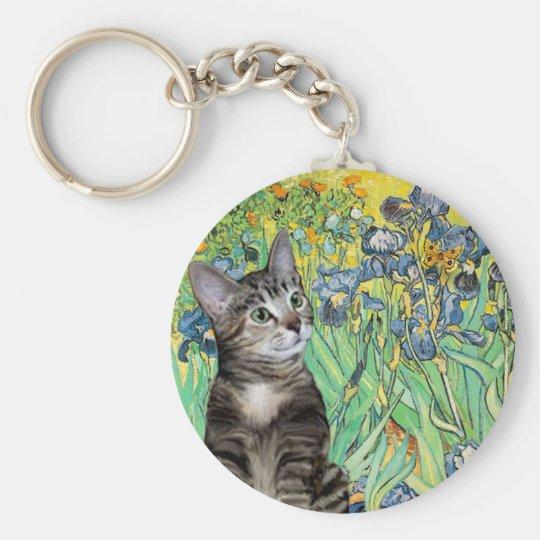 Cat (Tabby 2) - Irises Keychain