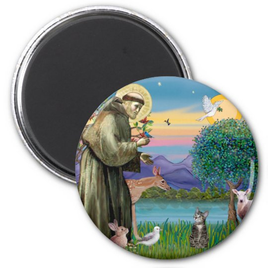 Cat (Tabby 2) - Saint Francis Magnet