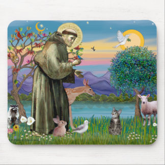 Cat (Tabby 2) - Saint Francis Mouse Pad