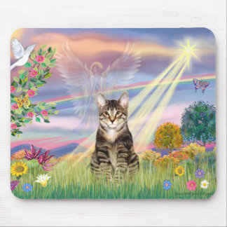 Cat (Tabby) - Cloud Angel Mouse Pad
