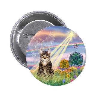 Cat (Tabby) - Cloud Angel Pinback Button